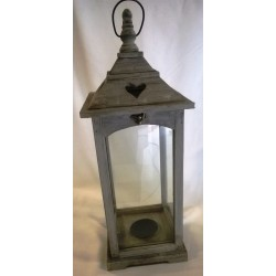 Lanterne en Bois H 54 cm
