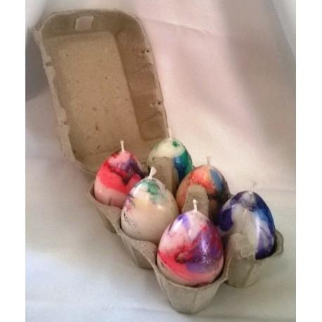 Bougies Oeufs de Pâques H 6cm