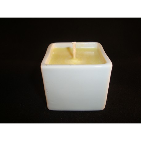 Bougie BOL MING Collection Porcelaine Blanche